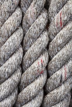 Close up of rope at marina, Bandon, OR