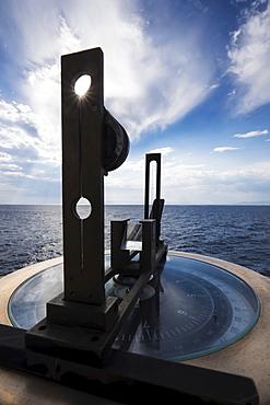 View of compass, Mediterranean Sea, Mediterranean