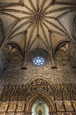 Interior of Santa Iglesia Cathedral, Valencia, Spain