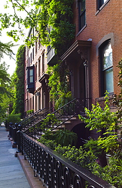 Townhouses in Greenwich Village New York City