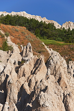 USA, South Dakota, Mountain in Badlands National Park