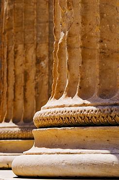 Greece, Athens, Acropolis, Doric columns of Propylaea