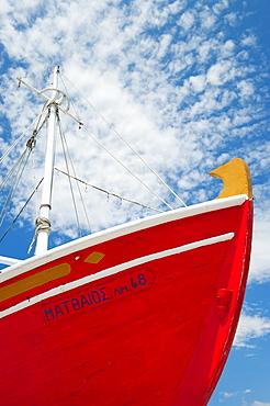 Greece, Cyclades Islands, Mykonos, Fishing boat