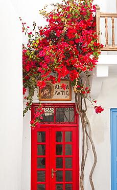 Greece, Cyclades Islands, Mykonos, Traditional building exterior