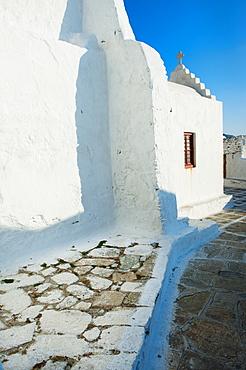 Greece, Cyclades Islands, Mykonos, Church walls