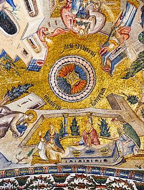 Turkey, Istanbul, Kariye Museum, fresco