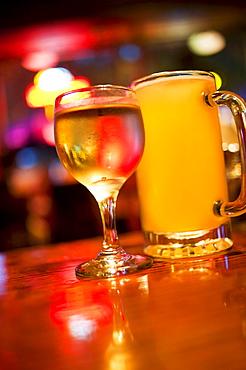 Drinks on bar counter