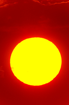 Close-up view of sun
