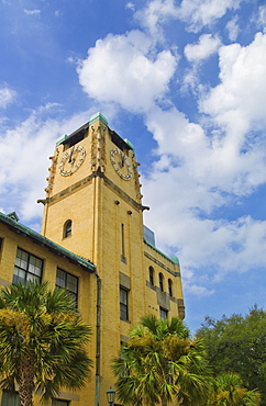 USA, Georgia, Chatham County, Savannah, City Hall tower
