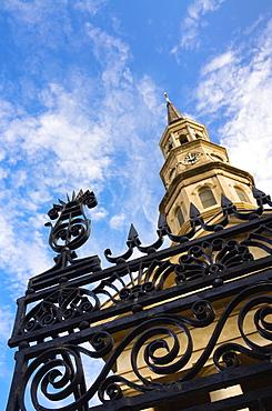 USA, South Carolina, Charleston, Low angle view of St. Philip's Church