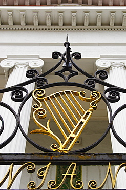 USA, South Carolina, Charleston, Detail of ornate iron gate