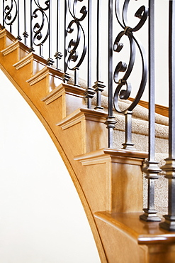 Metalwork decorating staircase