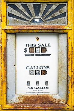 Close-up of old fuel pump
