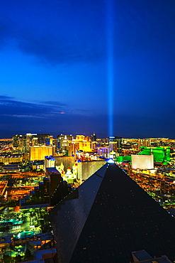 Cityscape at night, USA, Nevada, Las Vegas