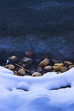 Snowy shore, Walden Pond, Concord, Massachusetts