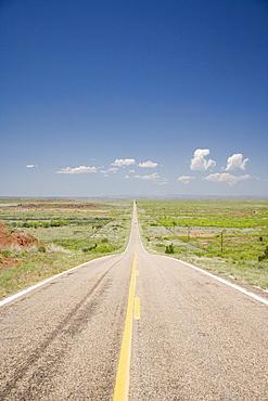 Empty county road