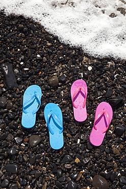 Oregon, Florence, Flip-flops on sea shore