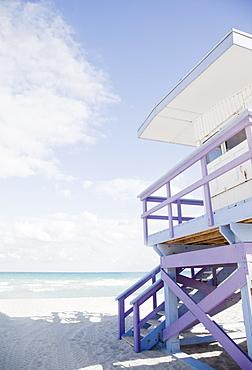 Lifeguard stand on beach