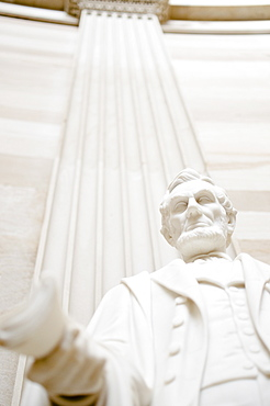 USA, Washington DC, Capitol Building, Close up of statue