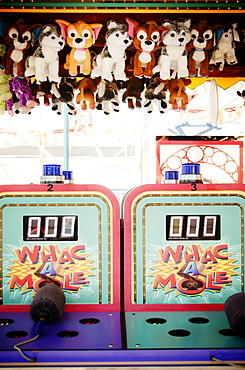 Leisure games in amusement park, USA, New York State, New York City, Brooklyn, Coney Island