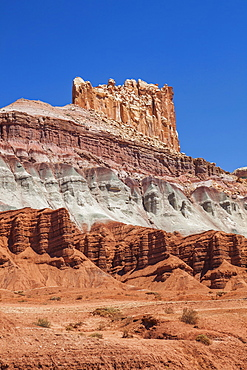Incredible rock formation, USA, Utah, Capitol Reef National Park