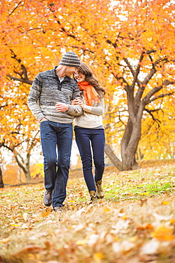 Couple in Central Park, USA, New York State, New York City