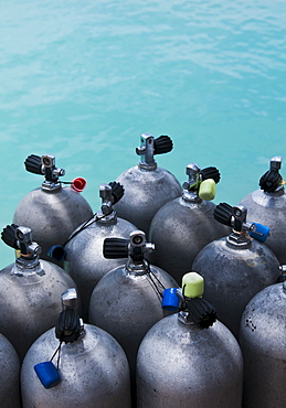 Oxygen tanks with water