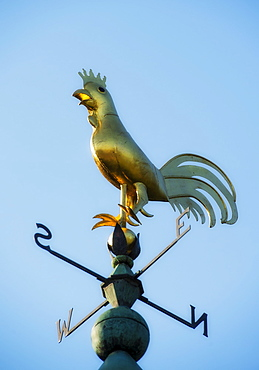 Low angle view of weathervane, Camden, Maine