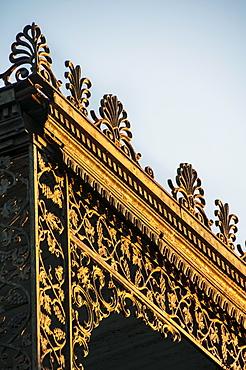 Close-up of balcony railing, USA, Louisiana, New Orleans