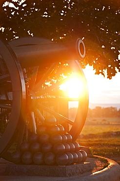 USA, Pennsylvania, Gettysburg, Cemetery Ridge, cannon