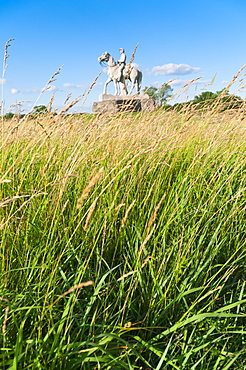 USA, Pennsylvania, Gettysburg, Cemetery Ridge, grassy field