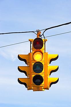 Close up of traffic light