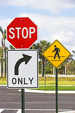 Street signs at intersection