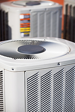 Close up of outdoor air conditioning unit