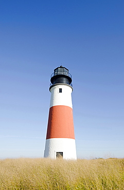 Sankaty Head Lighthouse, View of lighthouse, Nantucket, Massachusetts, USA