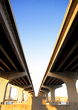 Low angle view of elevated highways
