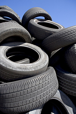 Pile of used tires