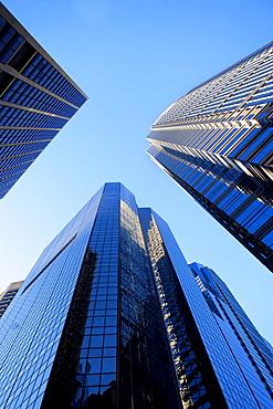 USA, Pennsylvania, Philadelphia, Skyscrapers against blue sky