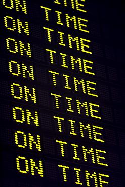 USA, Massachusetts, Boston, arrival departure board