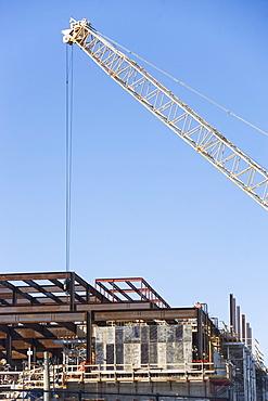 USA, Long Island, Crane on construction site
