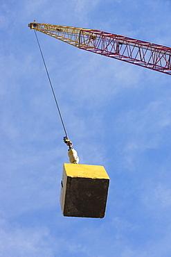 Crane hook carrying block