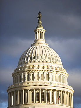 USA, Washington DC, cupola of capitol building