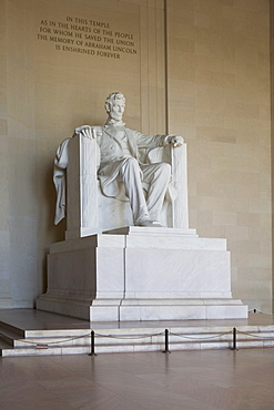 USA, Washington DC, Lincoln memorial sculpture