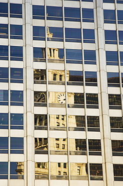 Reflection of the Wrigley Building Chicago Illinois USA