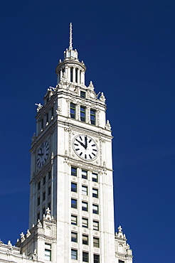 Wrigley Building clock tower Chicago Illinois USA