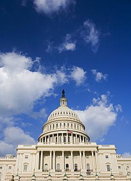 Façade of Capitol Building Washington DC USA