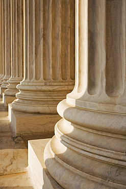 Columns at the Lincoln Memorial Washington DC USA