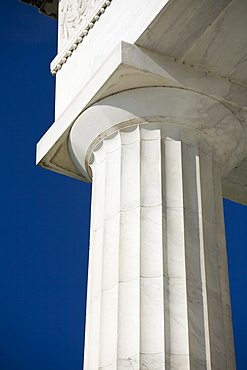 Doric column at the Lincoln Memorial Washington DC USA
