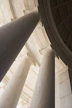 Ionic columns Jefferson Memorial Washington DC USA