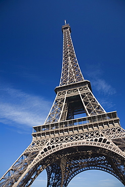 Low angle view of the Eiffel Tower